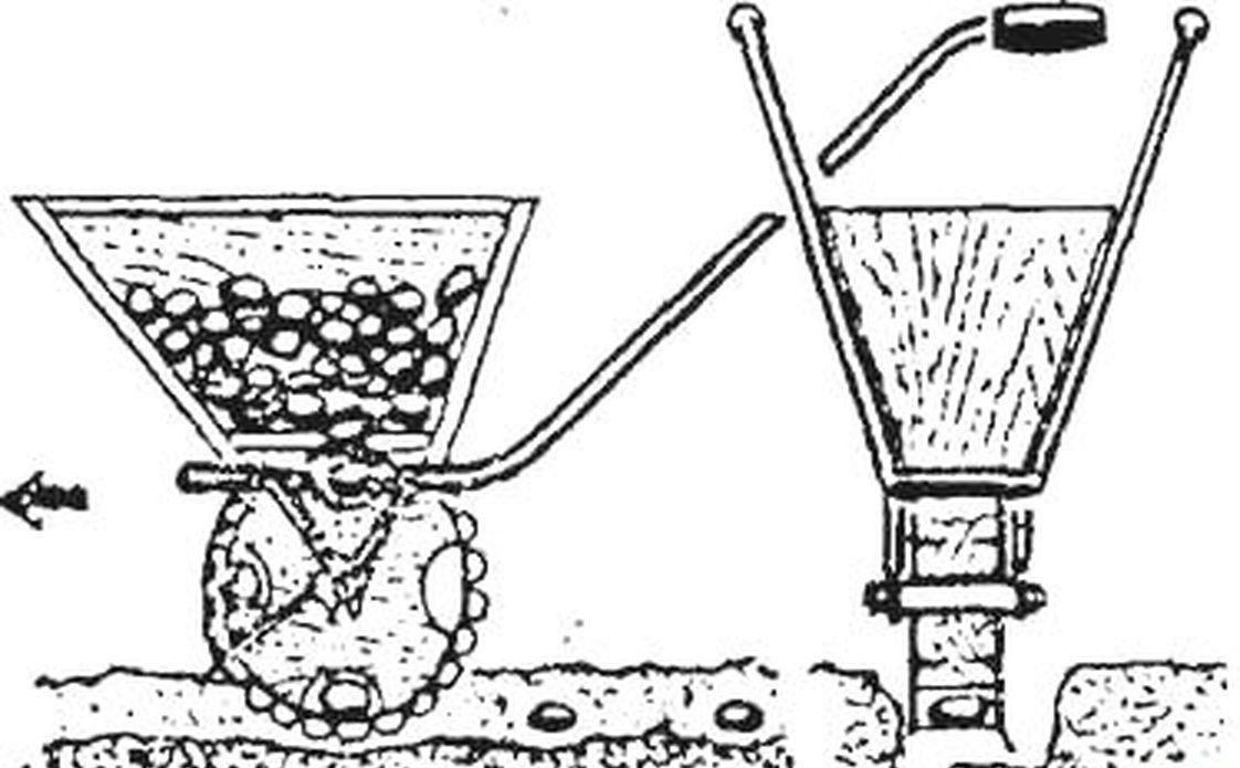 Ручная картофелесажалка чертежы