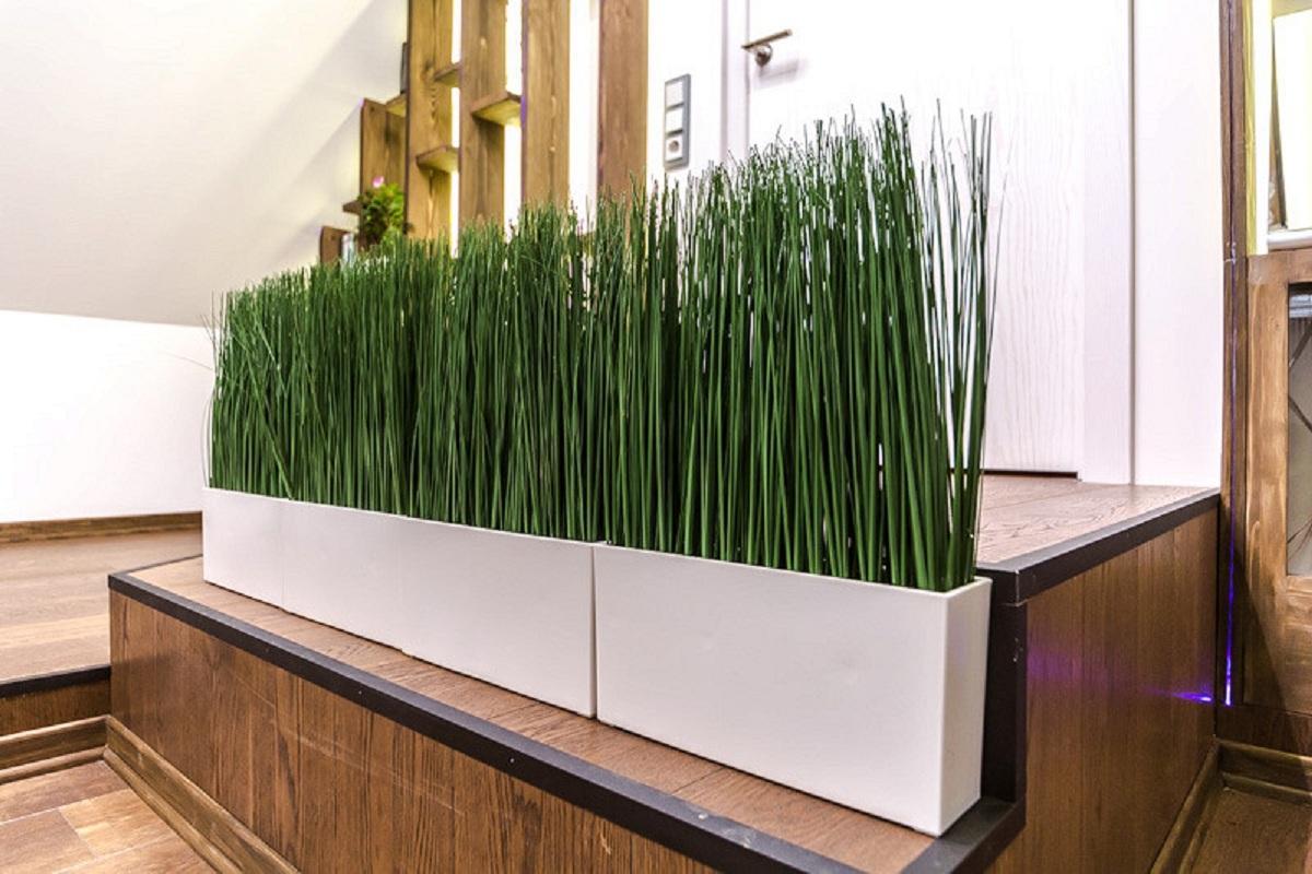 Искусственная трава в интерьере